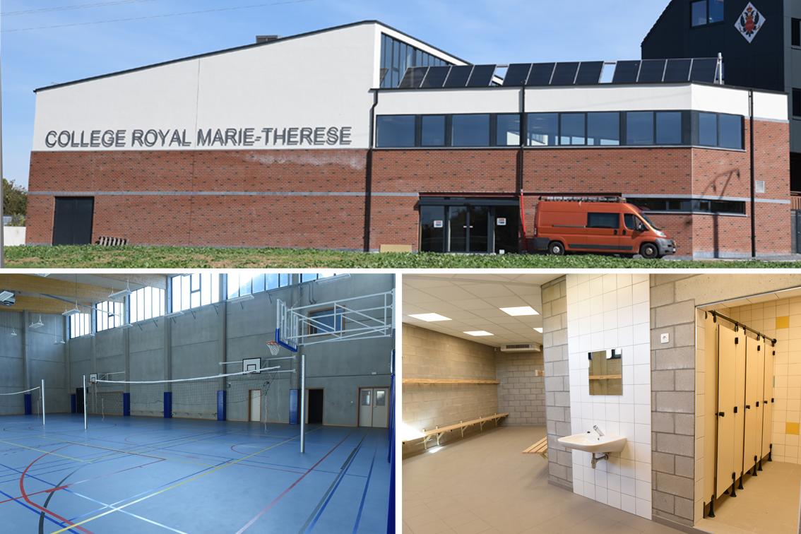 Nouveau hall sportif du Collège Royal Marie-Thérèse de Herve